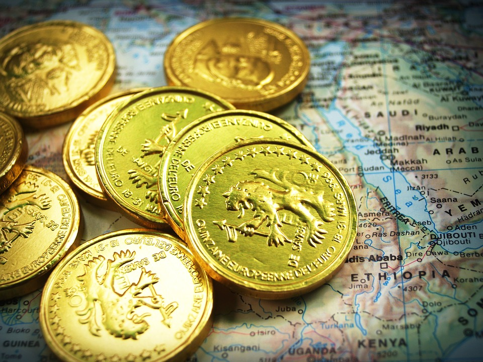 Tower Gold Rate Economy Cash Isolated Coin